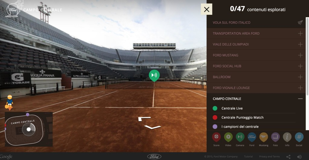 torneo multisensoriale ford my tennis virtual tour visualpro360