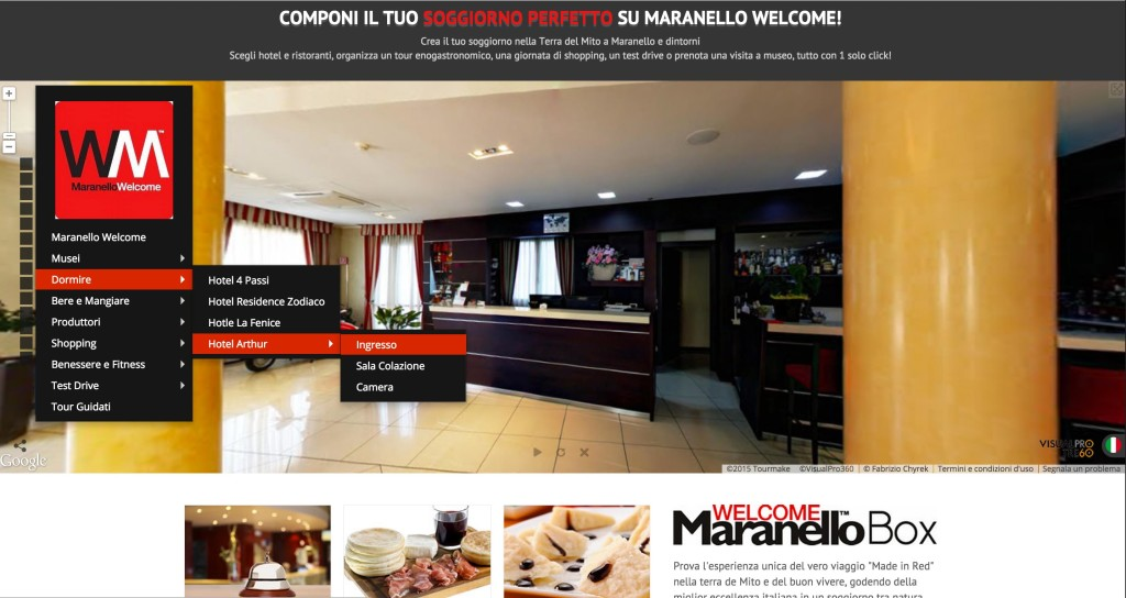 maranello welcome google tour hotel