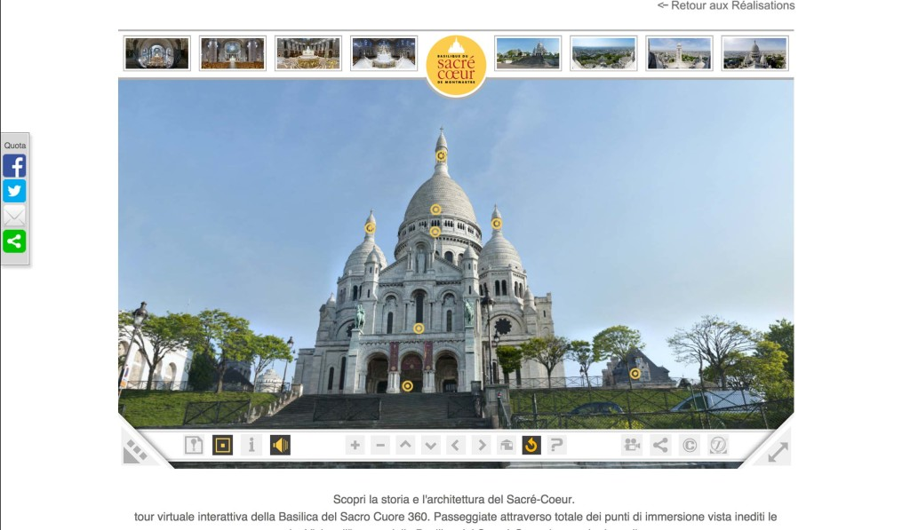 sacro cuore parigi virtual tour visualpro360