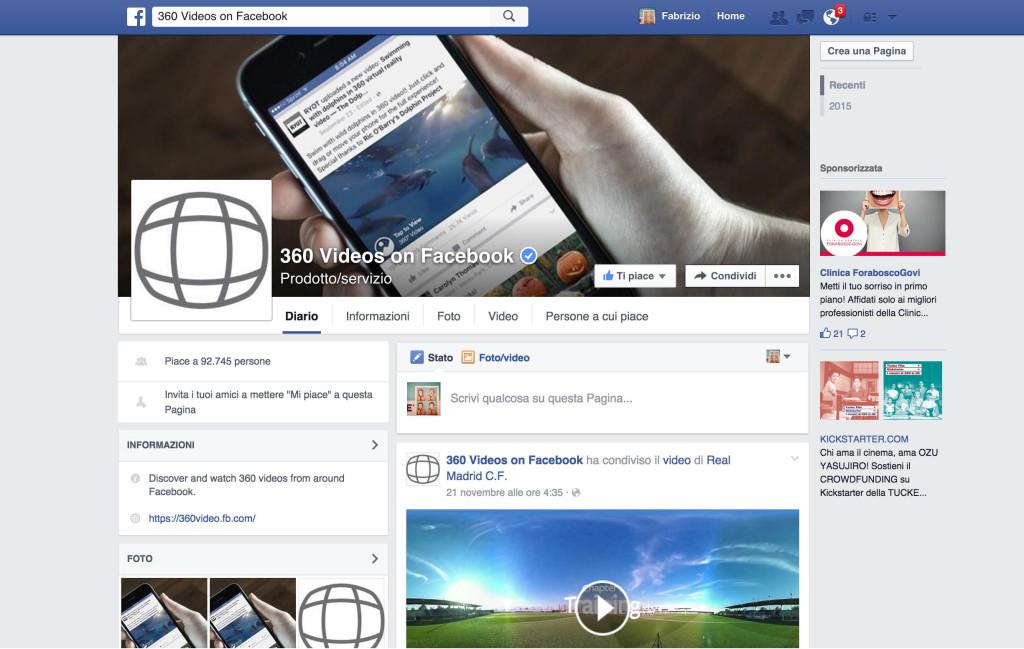 Facebook  360 video360