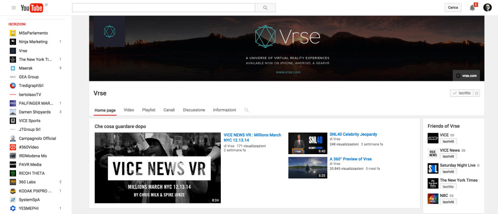 vrse youtube