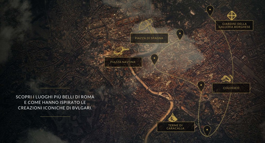 roma tour 360 virtual bulgari mappa