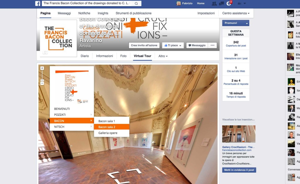bacon virtual tour Bologna facebook