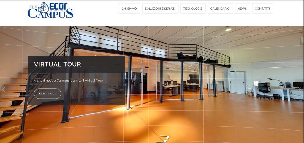 Il nuovo bellissimo sito di Ecor Campus.