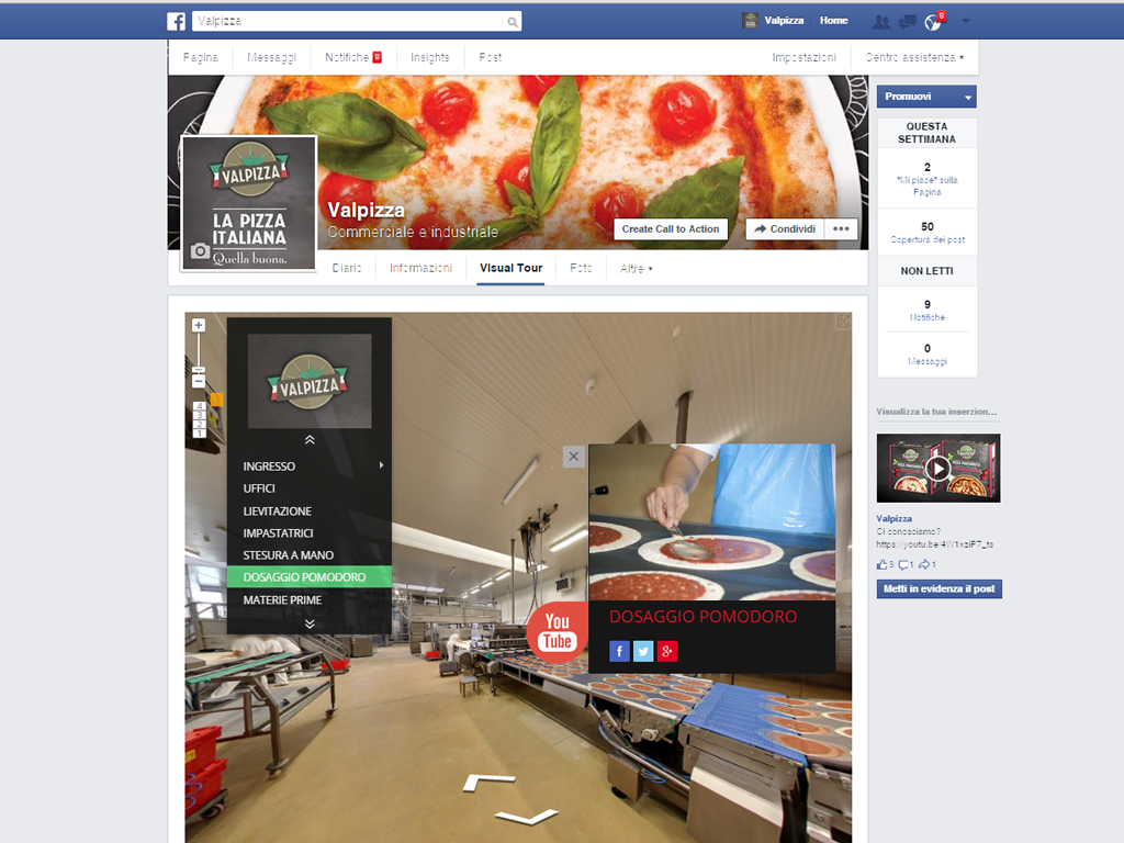 Facebook Valpizza: Tour Virtuale Google per Aziende.