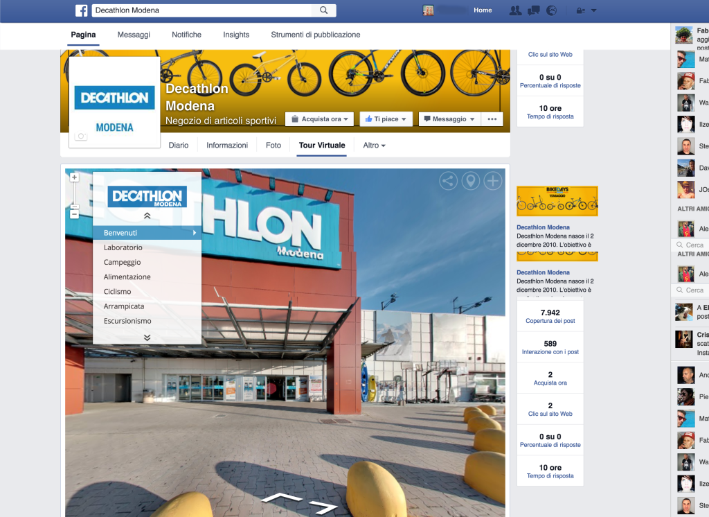 facebbok decathlon virtual tour