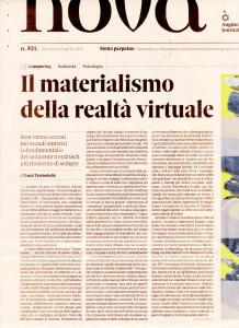 Realtà virtuale su Nova 24