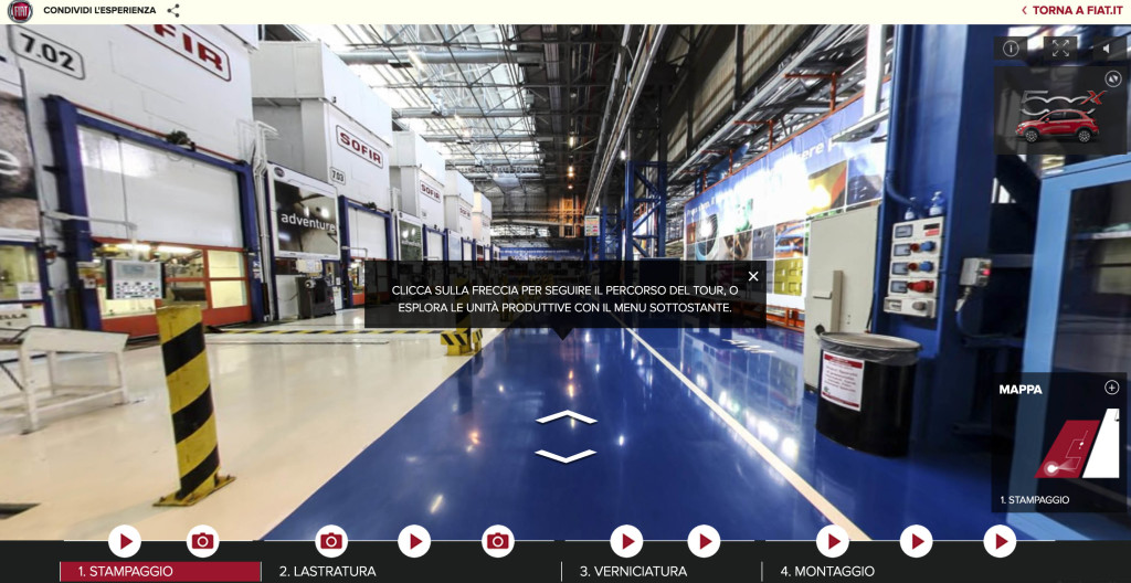 fiat melfi virtual tour Visite guidate in stabilimento come fare 1