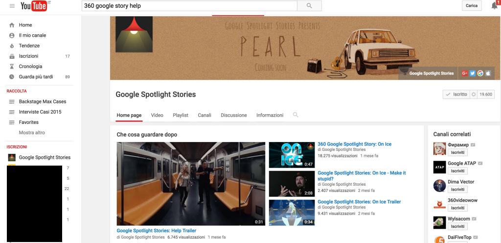 google spotlightGoogle Spotlight e il cinema diventa VR