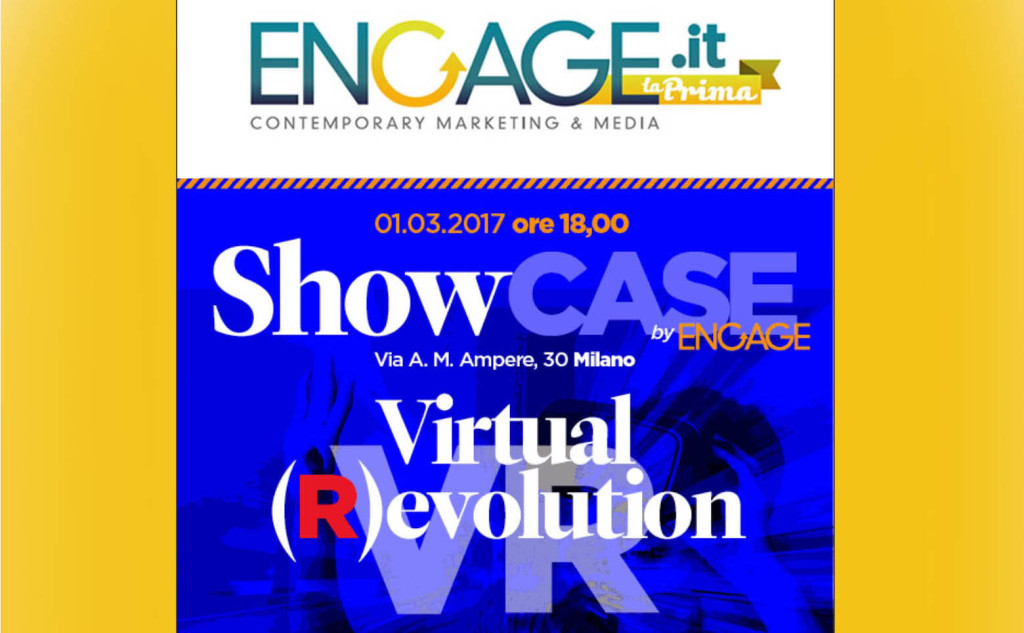 Engage evento invito video vr 360 Milano Torino