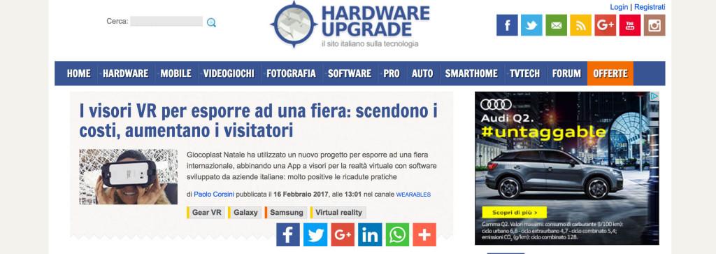 Hardwearr articolo vr giochipreziosi video aziendale vr 360