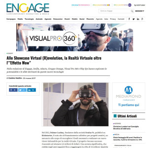 engage serata realtà virtuale video 360 quad