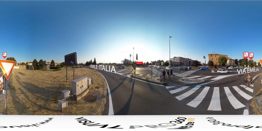 ingresso A tour virtuale vasco modena park concerto video vr 360 produzione video Milano