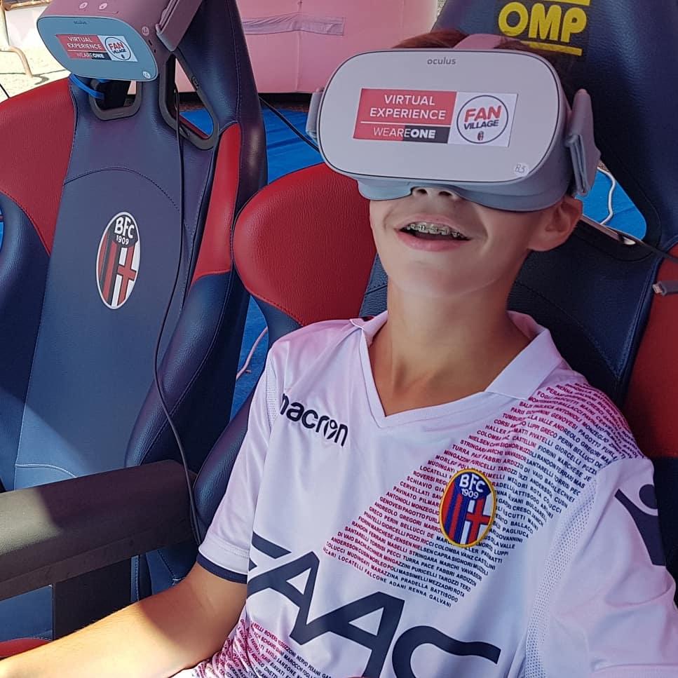 realtà virtuale allo stadio Dall'Ara con Visualpro 360