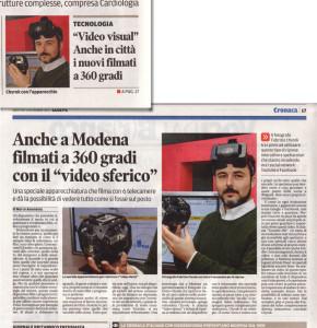"""Anche a Modena filmati a 360 gradi con il """"video sferico"""""""