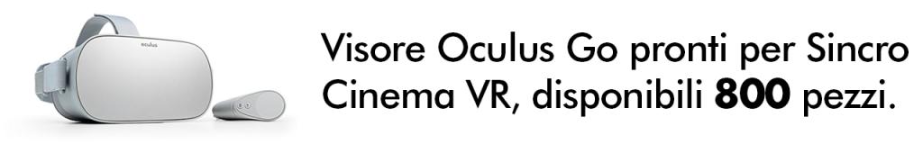 noleggio affitto oculus go cinema vr Roma Milano