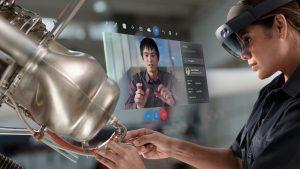 TECH Microsoft mostra la sua visione per le riunioni future in realtà aumentata hololens visore realtà aumenta per aziende