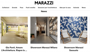 Marazzi show room virtuale Milano produzionje video VR 360 Realtà virtuale vr 360 video production to arrange one day VR shooting of one factory near milano